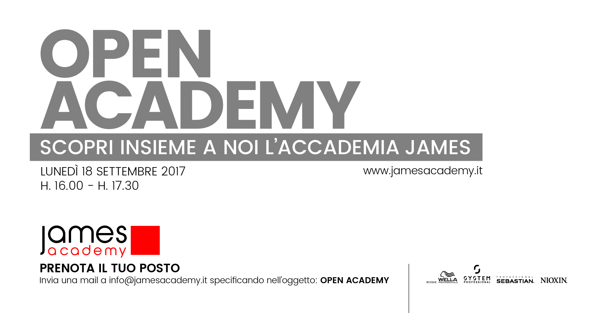 OPEN DAY JAMES ACADEMY